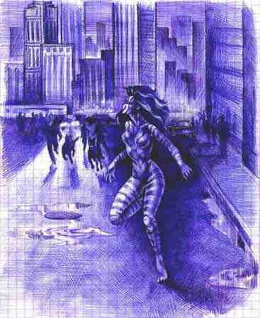 И увидел, что рыжеволосая девушка испуганным олененком мчится прочь