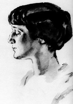 Анна ахматова художник н тырса 1927 г