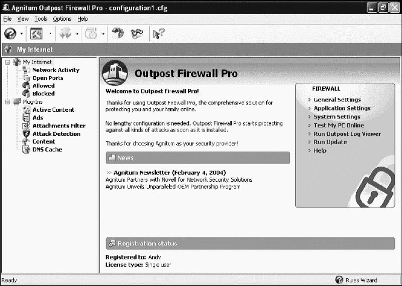 Agnitum Outpost Firewall Pro ver.