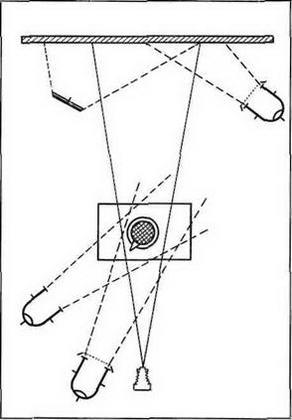 Схема света для получения