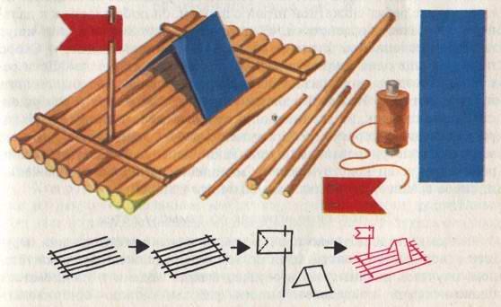 Как сделать игрушечный плот
