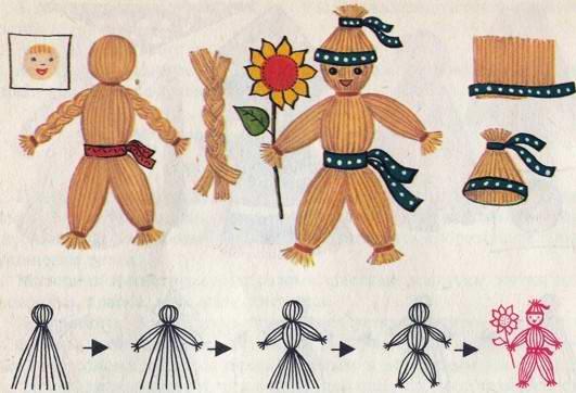 Как сделать куклу своими руками в школу