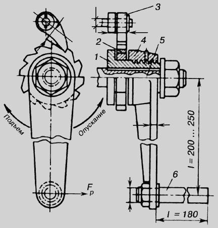 Схема безопасной рукоятки