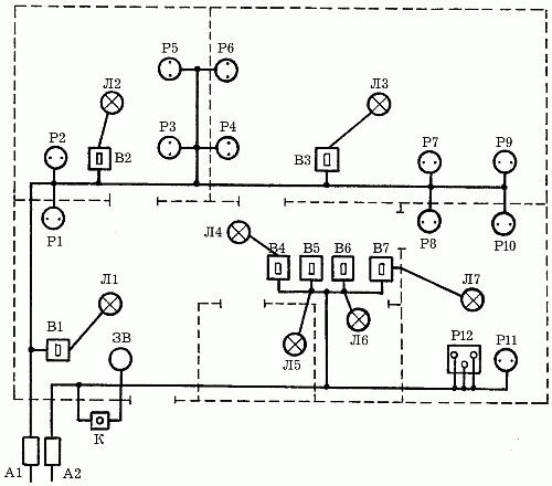 Электрическая схема в доме.