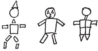Методика нарисовать человека из фигур