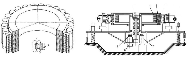 Схема установки показана на