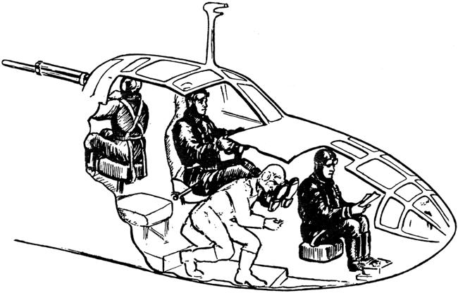 Размещение экипажа в самолете