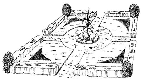 клумб, рабаток, фонтанов и