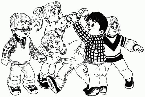 Черно-белые картинки детские игры